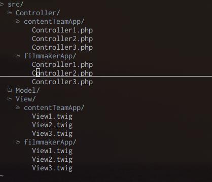 basic project filetree