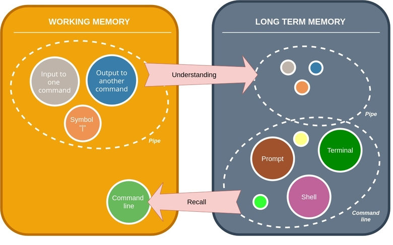 Understand in the working memory and long term memory